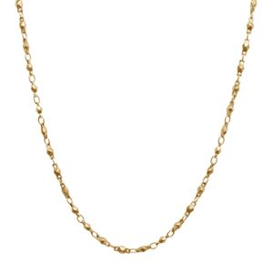 Picture of Gold Multifaceted Link Chain - 28""